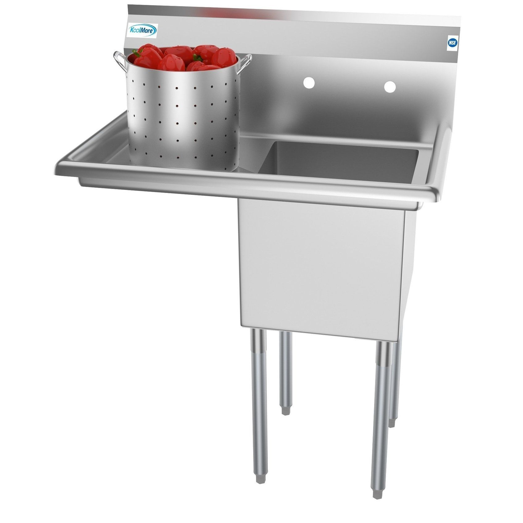 Koolmore 33 Inch Stainless Steel Commercial Kitchen Prep And