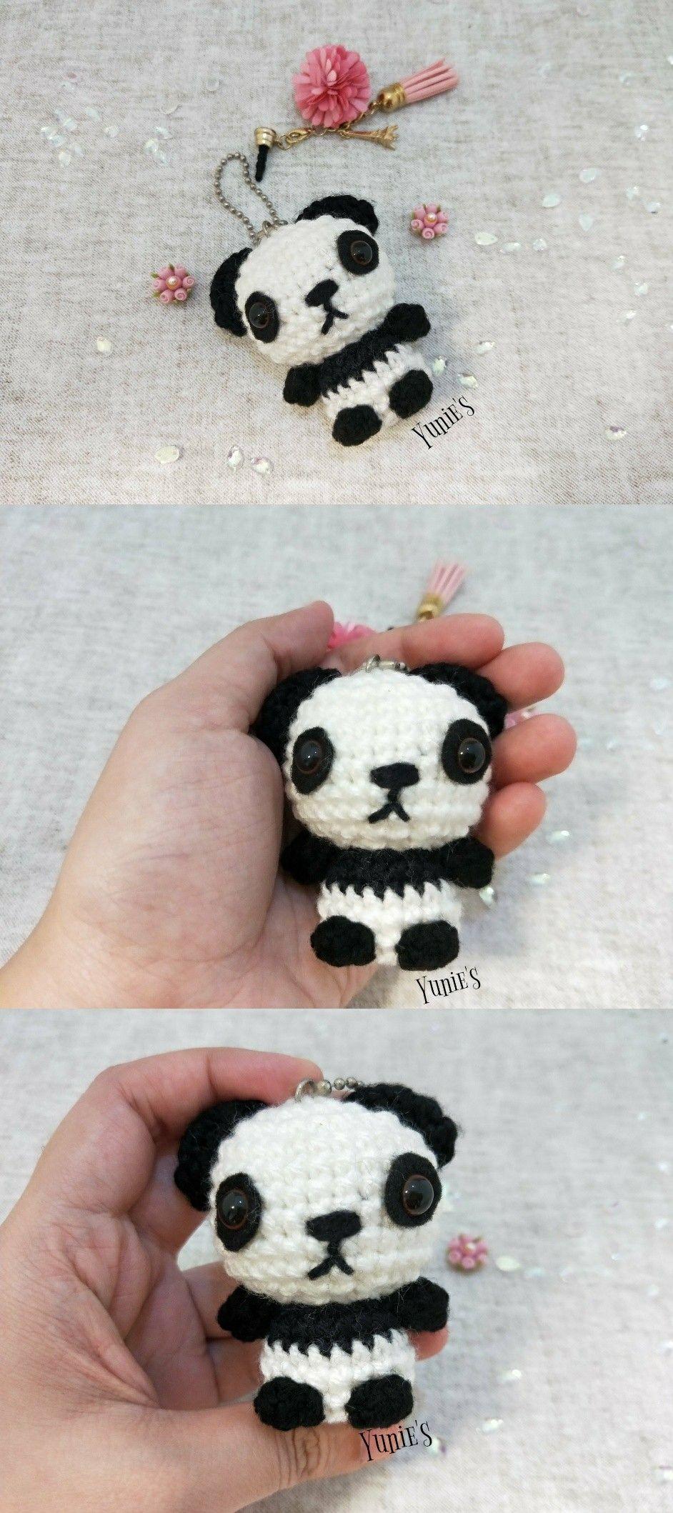 Panda Amigurumi, crochet panda, panda crochet, panda toy, amigurumi ...