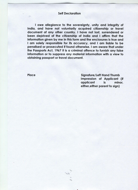 image result for sample letter for lost indian passport