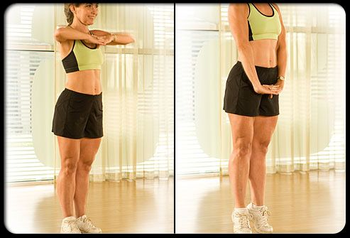 Zip Up Stand Upright With Heels Together Toes Slightly Turned Out Bring Your Arms Up Hands Joined Underneath The Ch Fitness Abs Pictures Fit Board Workouts