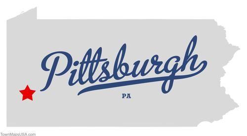 Map of Pittsburgh Pennsylvania PA | Pittsburgh, Map ...