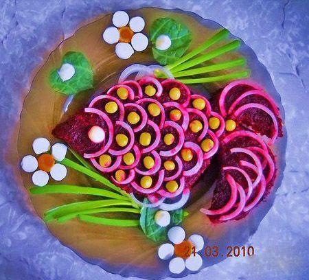 как красиво украсить салаты | Всё для женщин | Фуд-арт ...