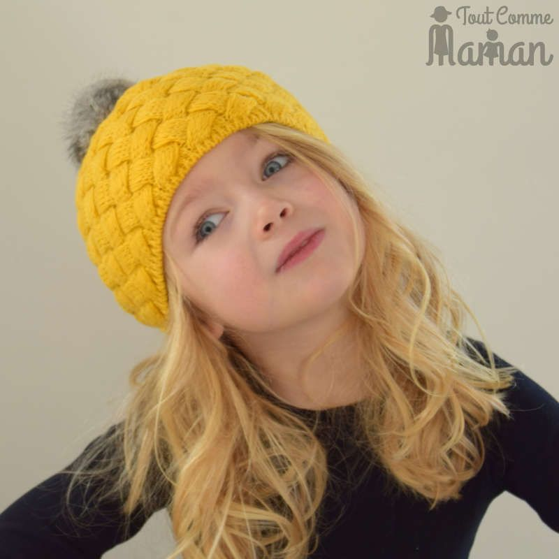 aa60632d71784 Bonnet DALLAS jaune moutarde | Tricot et crochet | Bonnet bébé fille ...