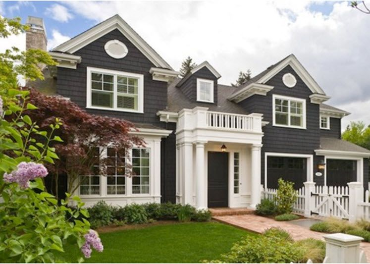 Exterior Paint Ideas For Homes Part - 16: Black Houses - Home Exterior Paint Ideas