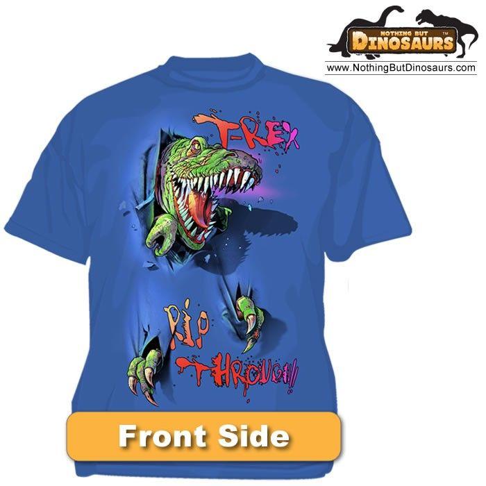 e5db54edc Wild Cotton 2 Sided T-Rex Dinosaur Rip Through Graphic T-Shirt   Nothing  But Dinosaurs