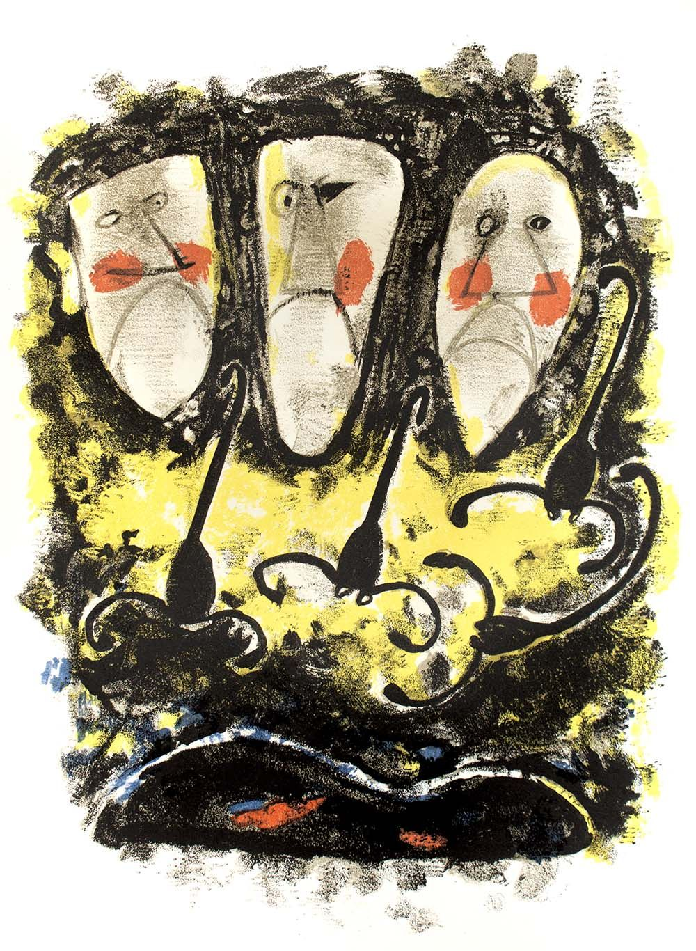 Three faces #Yellow #Colors