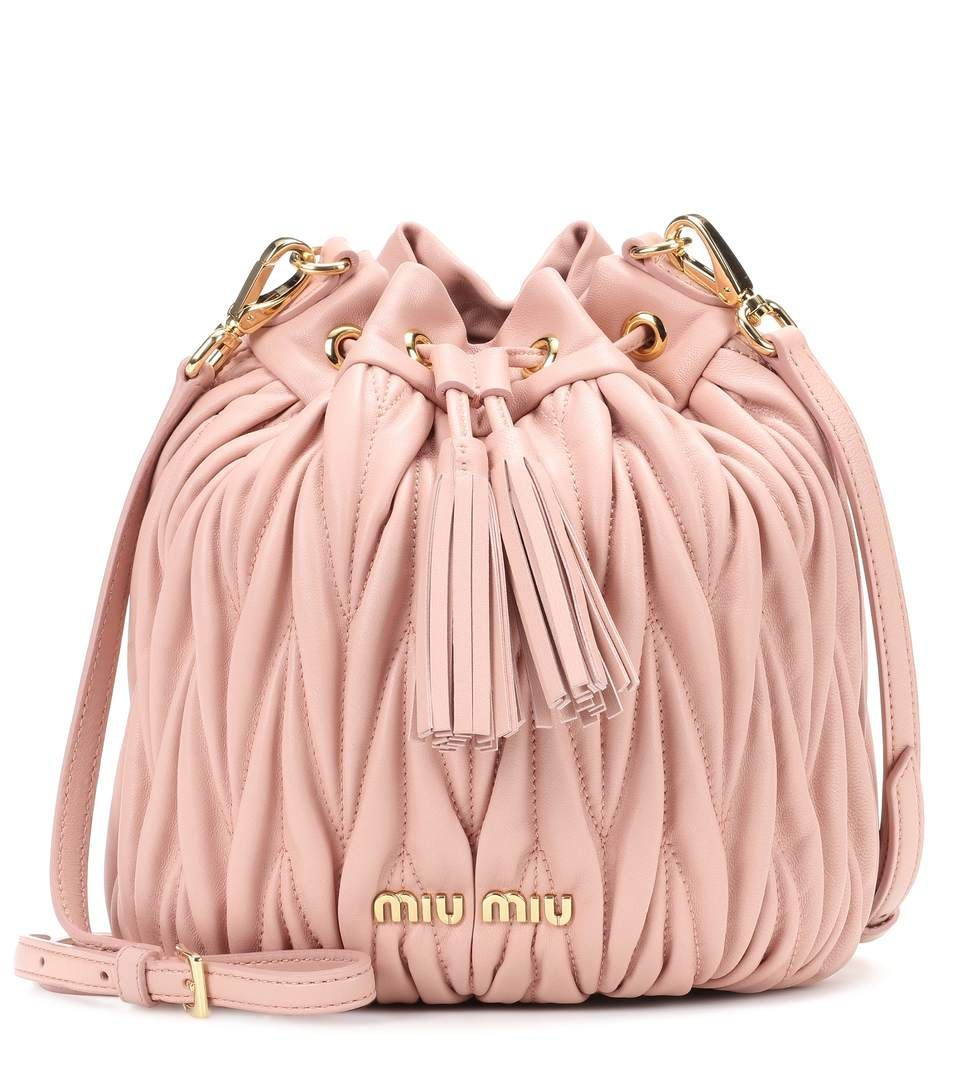 MIU MIU Matelassé leather bucket bag.  miumiu  bags  shoulder bags  leather   bucket  lining   8c53b0ab9839