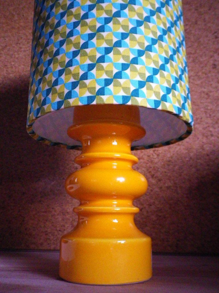 DIY Lampenschirm von fummelhummel bzw. Hono Lulu mit retro Stoff ...