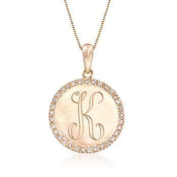10 ct tw diamond single initial circle pendant necklace in 14kt tw diamond single initial circle pendant necklace in 14kt yellow gold 18 mozeypictures Gallery