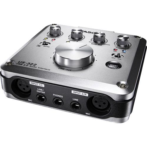 Tascam US-322 - USB 2 0 Audio Interface with DSP Mixer