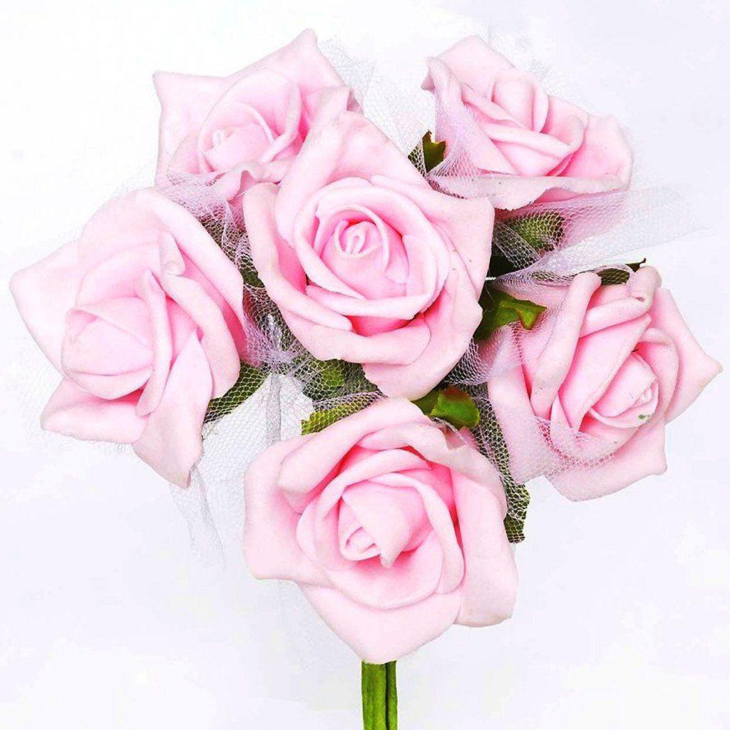 72 Artificial Premium Silk Rose Flowers wedding Bouquet Vase ...