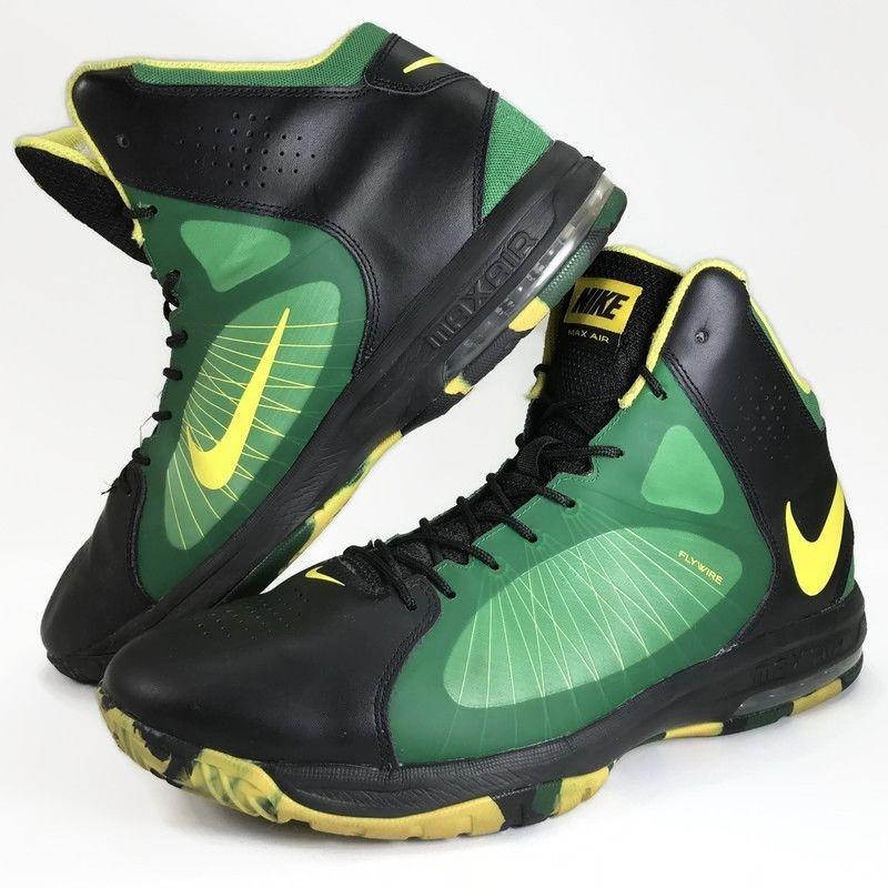 best website 5362e 1f10a Nike Max Air Men Shoe Actualizer II Flywire 622041-004 Green Sz 14  Basketball  Nike  BasketballShoes