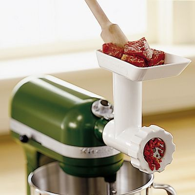 Kitchenaid Stand Mixer Food Grinder Attachment Ubiquitous But This Does It All Grind Meat Make Sausage Tomato Sauce