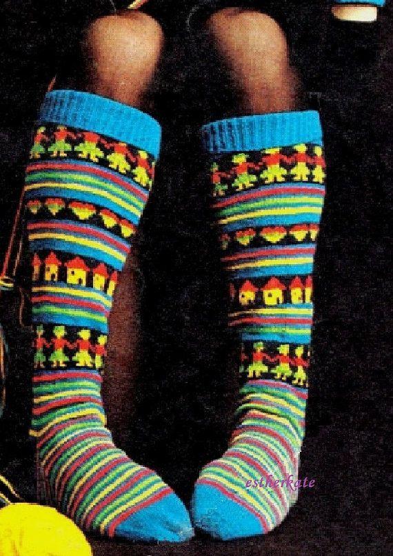VINTAGE knitting pattern pdf, the latest craze Fair Isle and ...