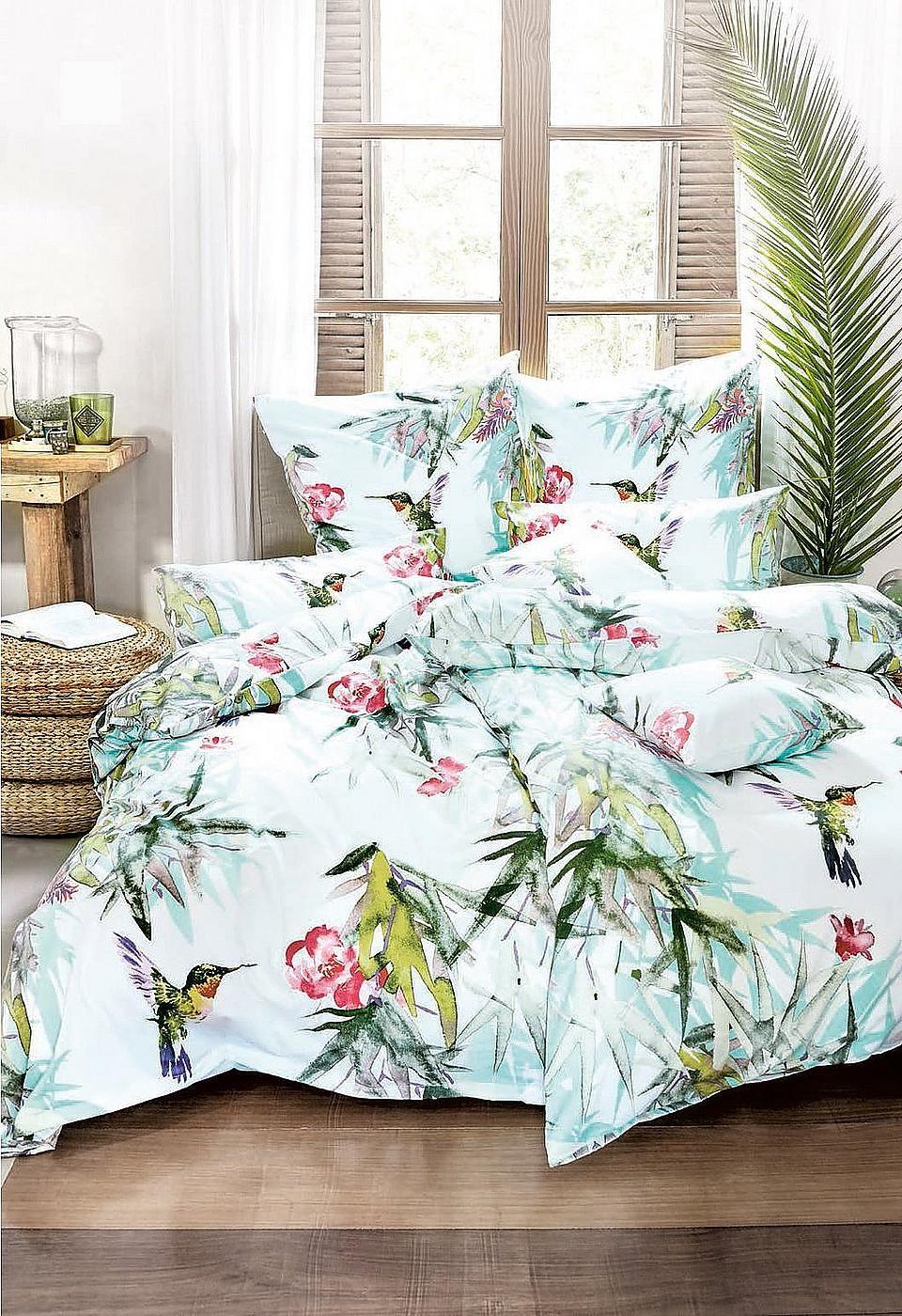 Living Dreams Bettwasche Mako Satin Tropical Auf Rechnung In 2020 Bettwasche Bett Und Tumblr Zimmer
