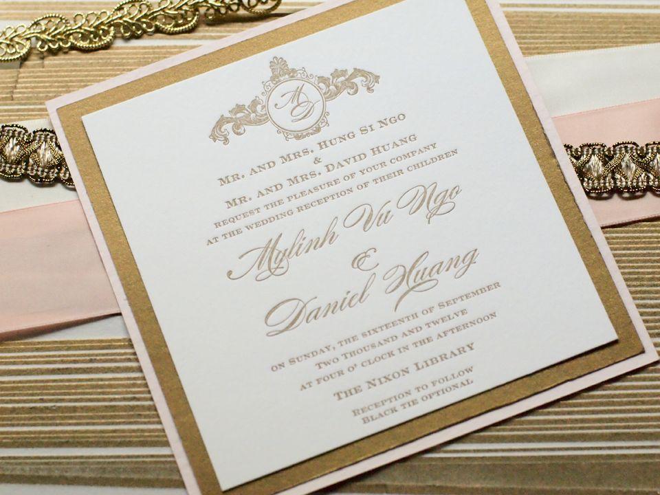 sister wedding invitation card wordings%0A wedding invitations  antique gold   blush  Invitation WordingInvitation