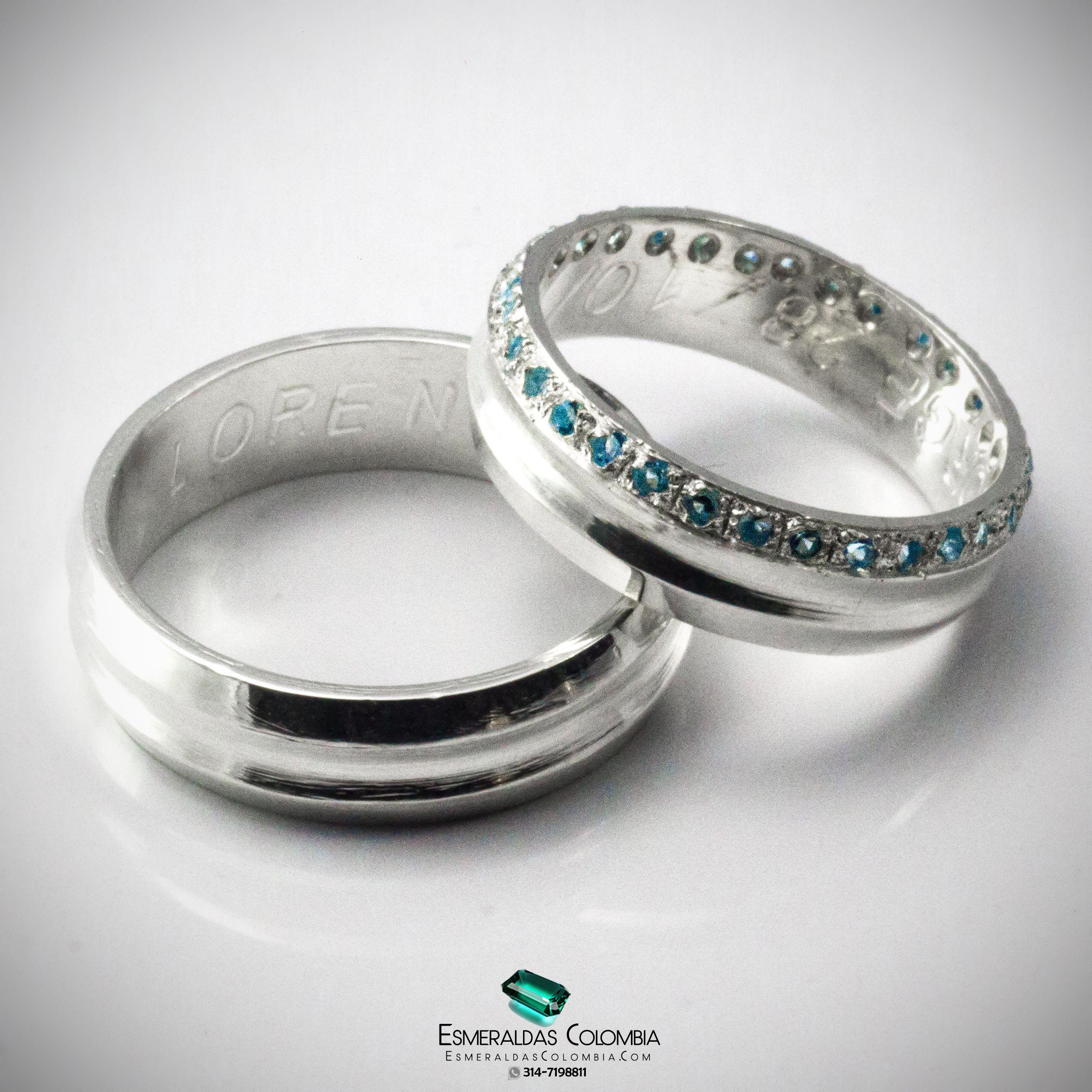 f1118cd05e89 Argollas de Matrimonio en Oro 18k o Plata con Diamante sintético o  Esmeralda Colombiana  esmeraldascolombia Facebook   esmeraldascolombia  Instagram    ...