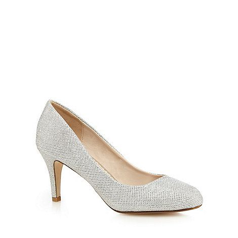 silver glitter court shoes online store