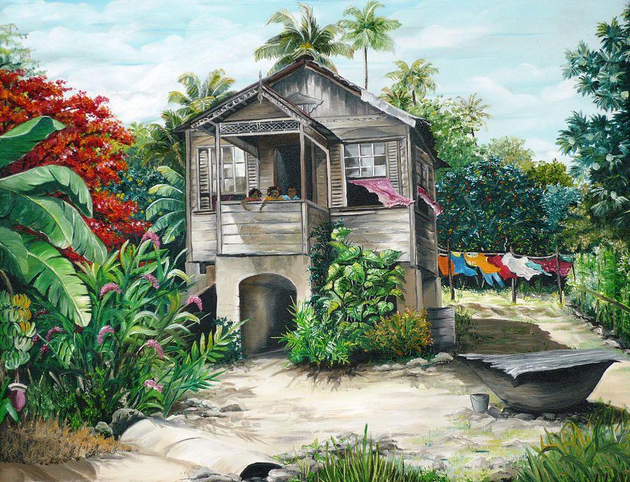 sweet island life painting by karin dawn kelshall best - Island Life