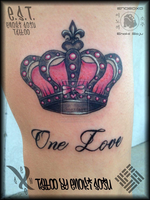 Her Crown Tattoo By Enoki Soju By Enokisoju Deviantart Com On