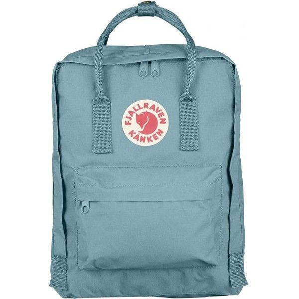 Kanken Sky Blue by Fjällräven ($96) ❤ liked on Polyvore featuring bags,  backpacks
