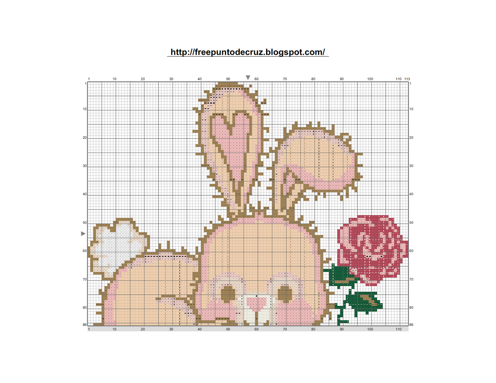 Rabbit cross stitch pattern - Conejo punto de cruz Rabbit cross ...