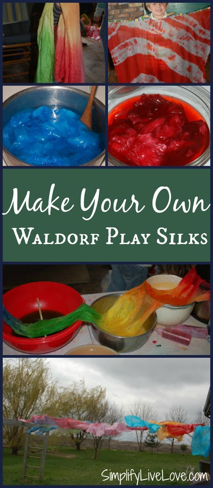 Make Your Own Waldorf Play Silks ~ A Tutorial Using Kool-Aid!