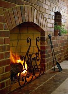 How to Resurface a Brick Fireplace With Marble Tile | Brick fireplace, Wood fuel, Brick ...