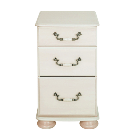 White with Pine Top Fast UK Delivery. Capri Wide Chest of Drawers 4 Drawers