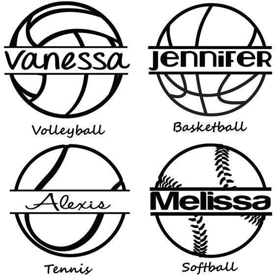 Personalized Sports Car Decal Tennis Volleyball Basketball - Car window decal stickers sports