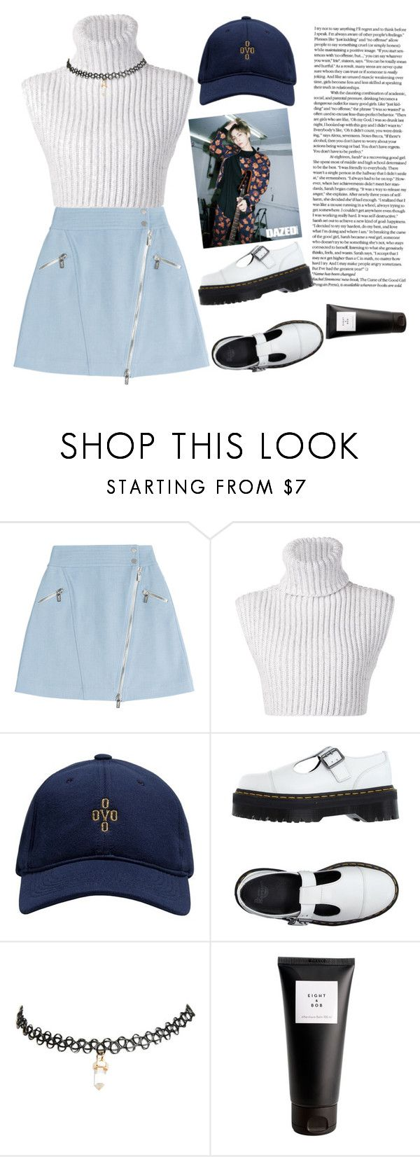 """""""Dazed"""" by jaya-bronson ❤ liked on Polyvore featuring Karl Lagerfeld, Baja East, October's Very Own, Dr. Martens, Wet Seal, Eight & Bob, women's clothing, women's fashion, women and female"""