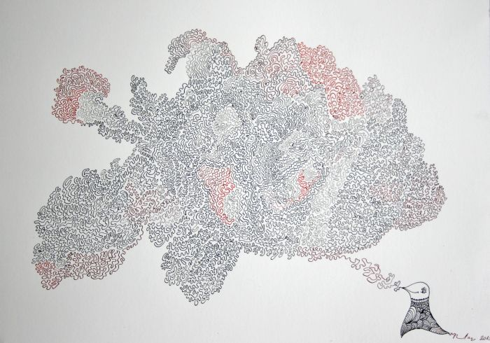 Mapa duše / Map of soul (ink on paper) by Renata Cekovic