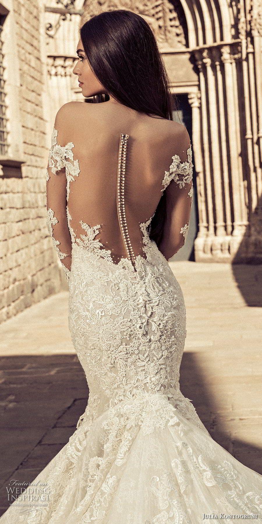 Plus size african wedding dresses  julia kontogruni  bridal long sleeves sweetheart neckline full