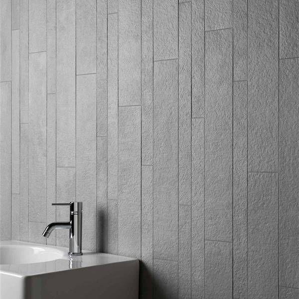 Grijstonen geven een stijlvolle tint aan uw badkamer - Deze tegels ...