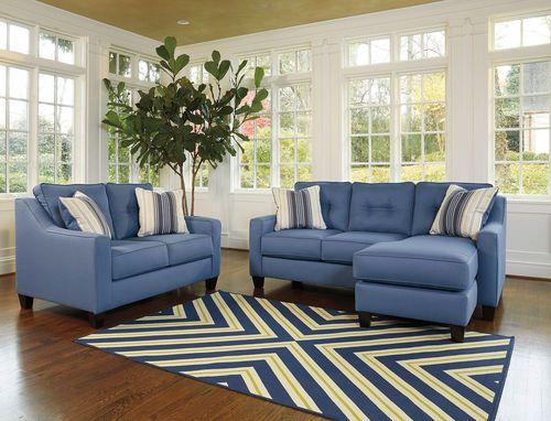 Surprising Aldie Nuvella Blue Sofa Chaise Loveseat Living Room Ibusinesslaw Wood Chair Design Ideas Ibusinesslaworg