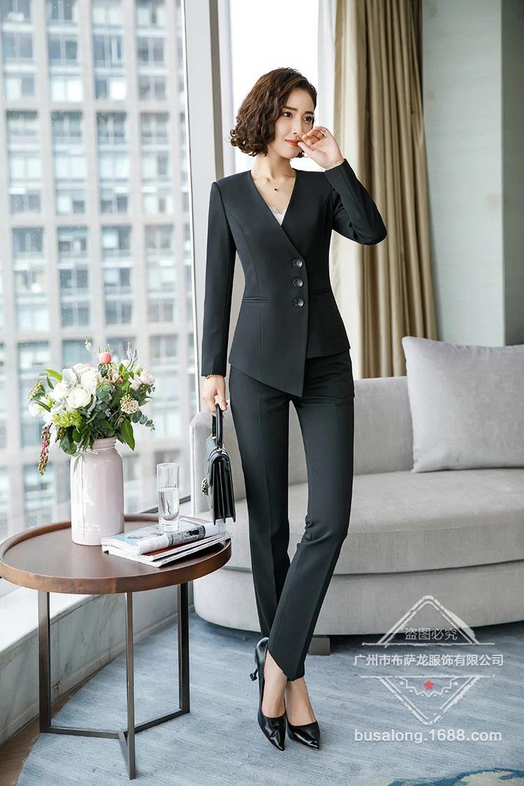 36 3 Trajes Formales Para Mujer Ropa De Trabajo Uniforme De Dama Trajes De Oficina De Mujer Blazers Uniforme Femenino Pantalones Elegantes De Negocios Office Fashion Women Womens Suits Business Fashion