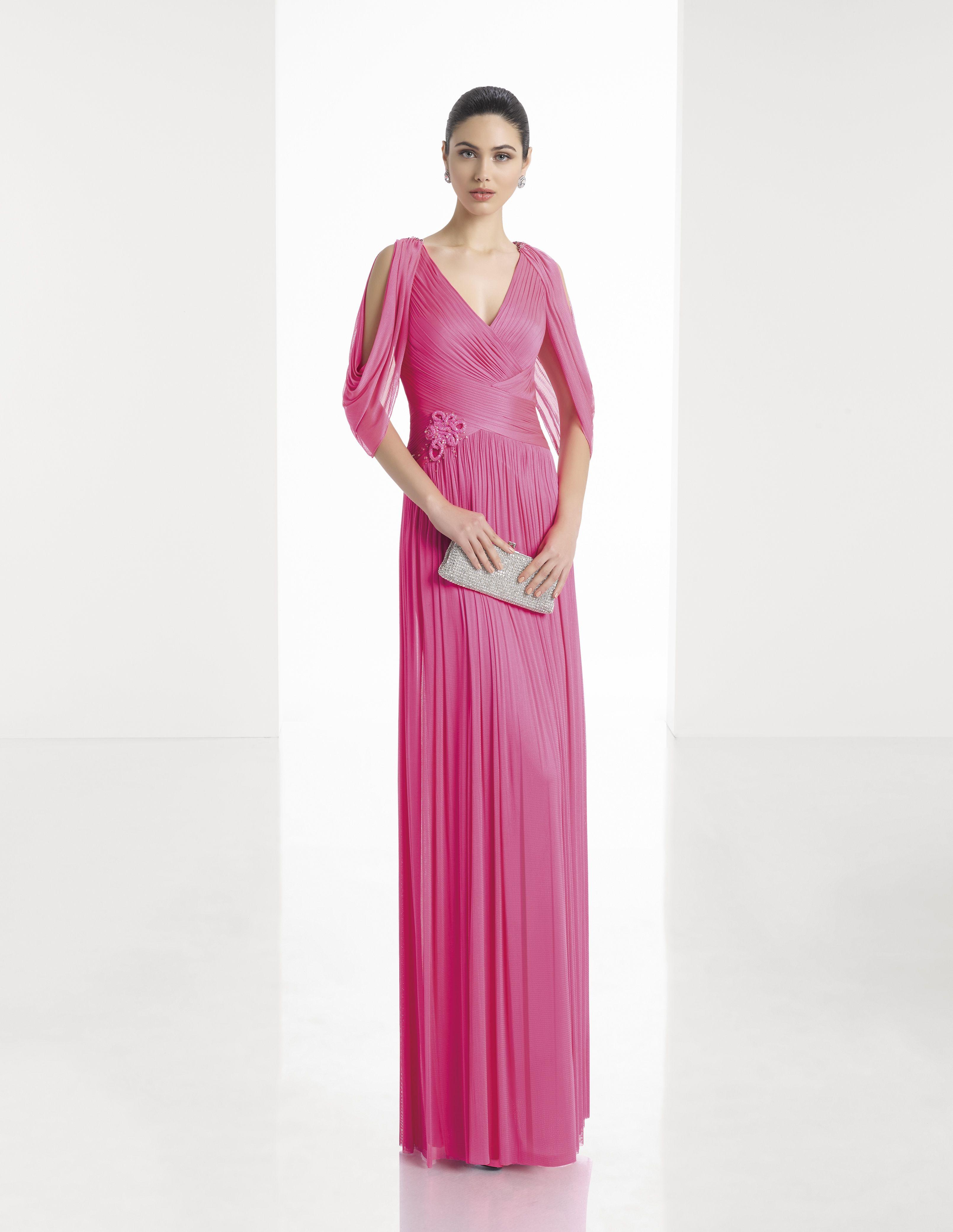 Vestido de Fiesta de Rosa Clará (1T134), colección so chic, largo ...