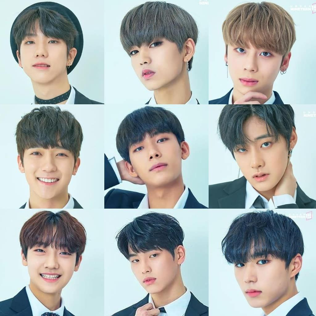1the9 Under Nineteen Final Debuting Group 1 Jeon Doyum 2 Jung Jinsung 3 Kim Taewoo 4 Shin Yechan 5 Jeong Taekhye Cute Korean Boys Celebrities Cute Korean