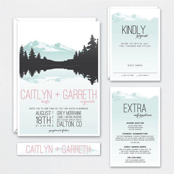 The \u0027Gemma\u0027 Rustic Mountain Wedding Invitation Suite (Sample) Weddings