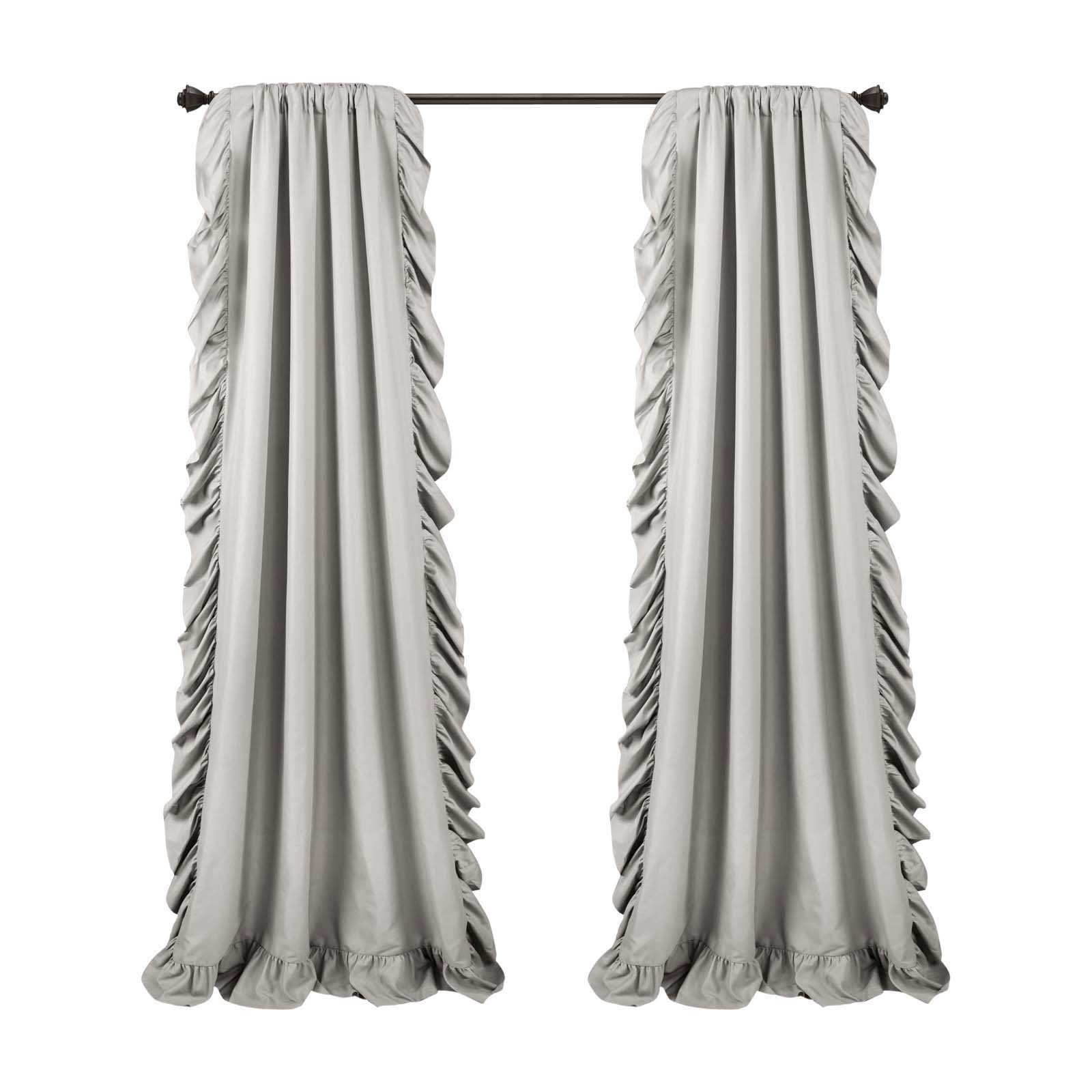 Lush Decor Reyna Window Curtain Panel Pair Light Gray Panel