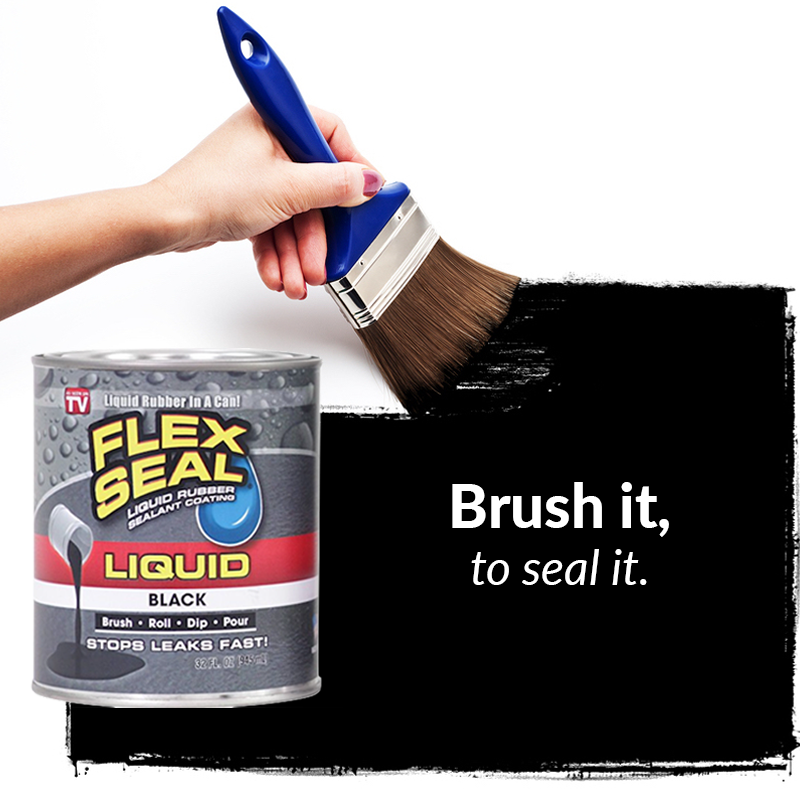 Flex Seal Liquid Is Liquid Rubber In A Can Now You Can Brush It On Roll It On Dip It Or Pour It Anywhere You Need It Liquid Rubber Flex Liquid