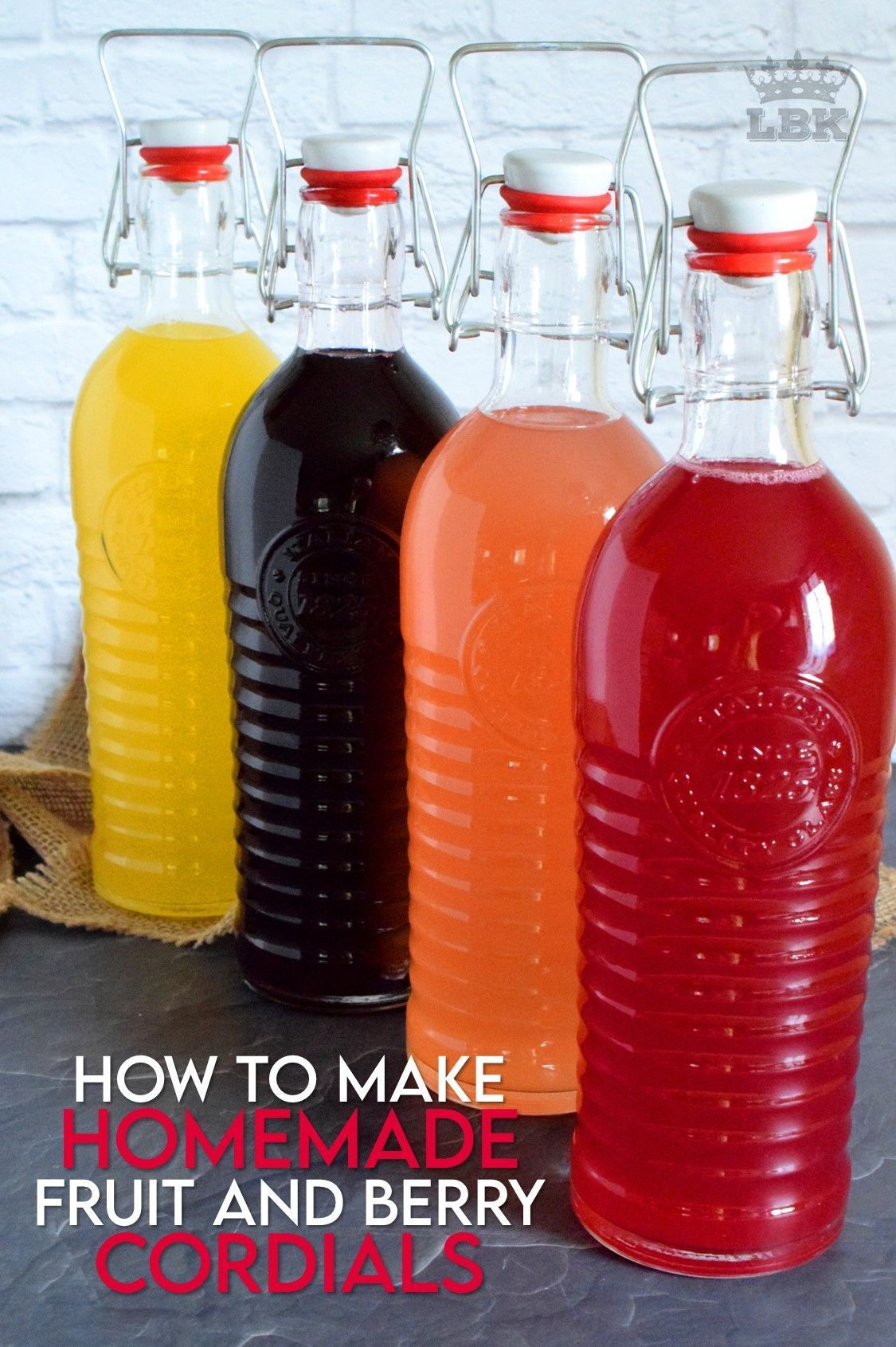 How To Make Homemade Fruit And Berry Cordials In 2020 How To Make Homemade Cordial Berries