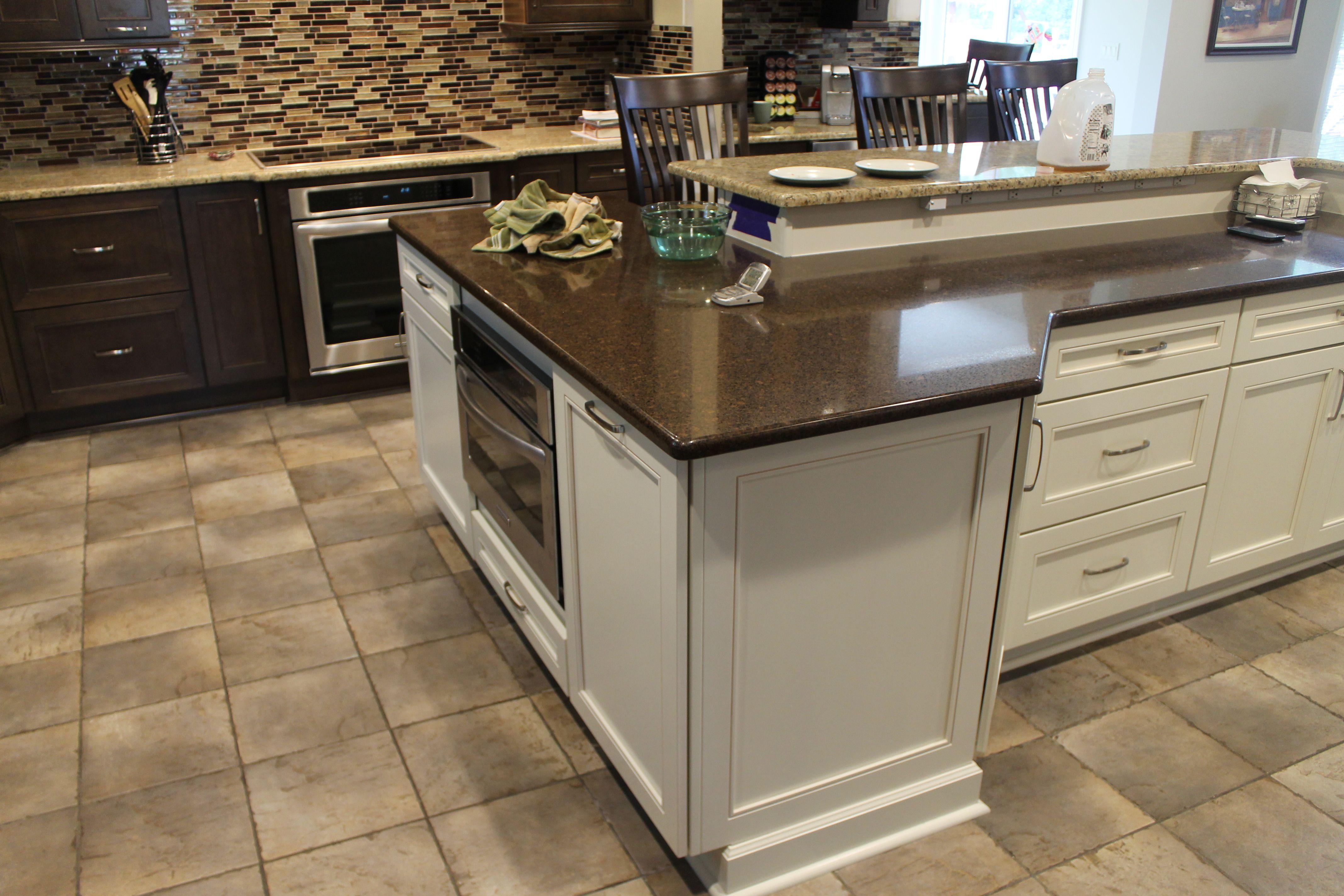 Medium Maple Cabinets with light Granite countertops and ... on Light Maple Cabinets With Black Countertops  id=96307