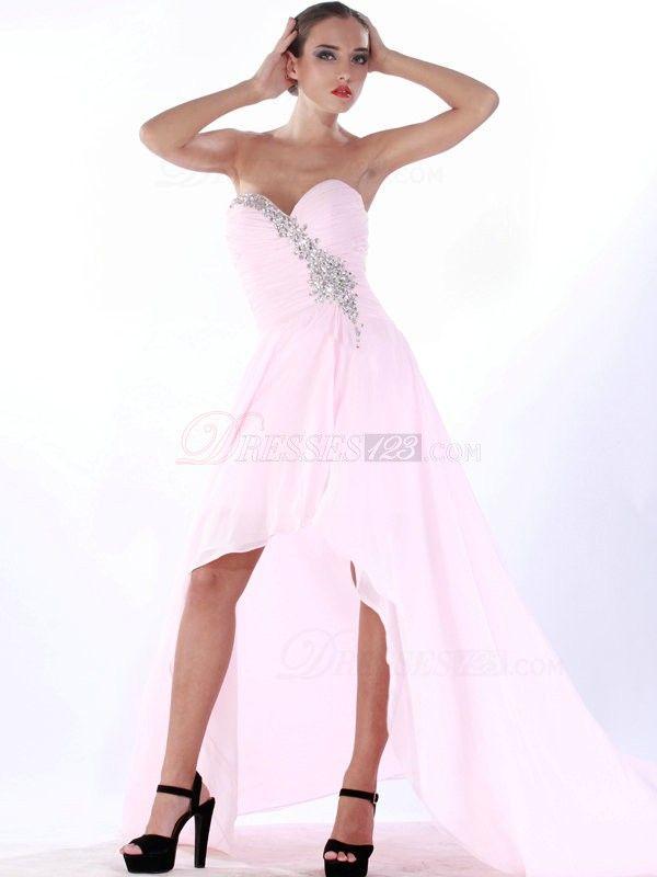 asymmetrical/train prom dresses