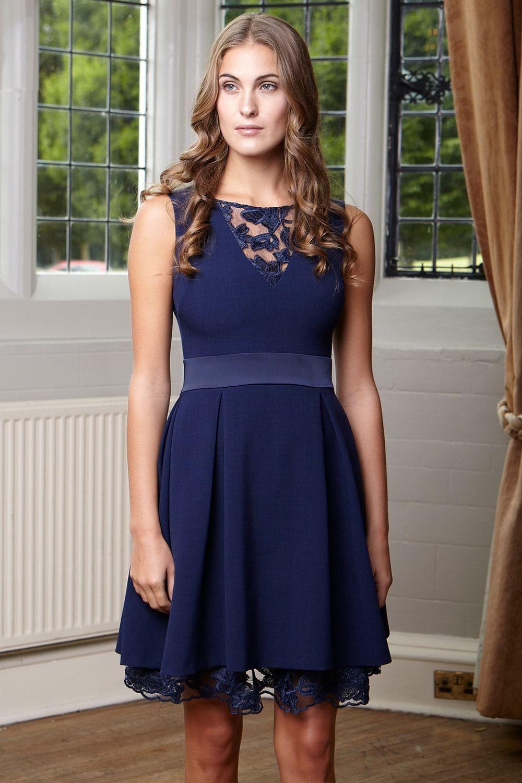 Hybrid Crawford Crepe Frill Sleeve Dress Evening wedding