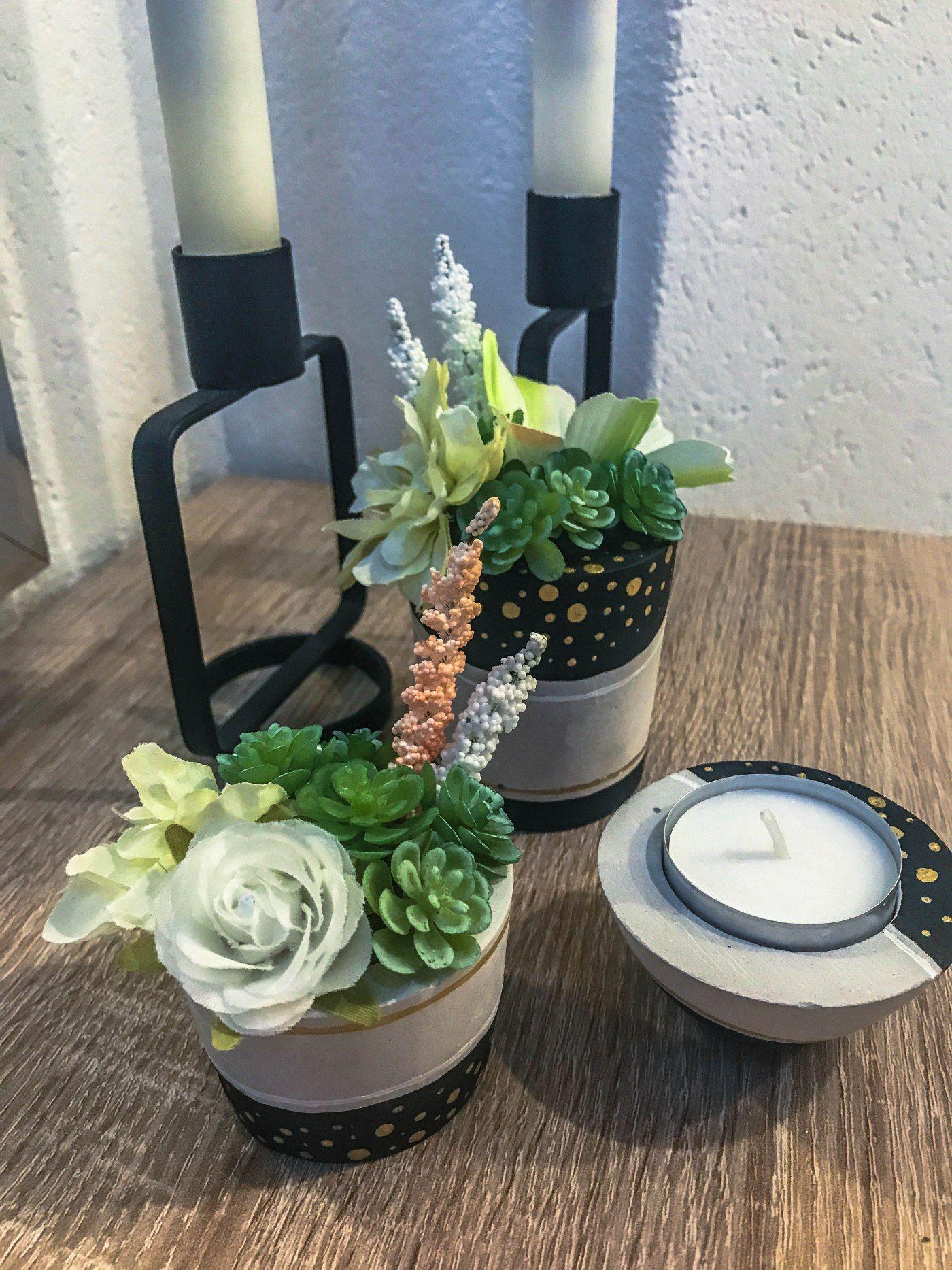 Diy Gips Teelicht Und Blumenhalter Teelichter Teelichthalter