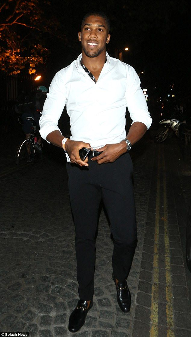 Wow! Boxer Anthony Joshua was also at the bash, looking extremely dashing in a shirt and suit trousers
