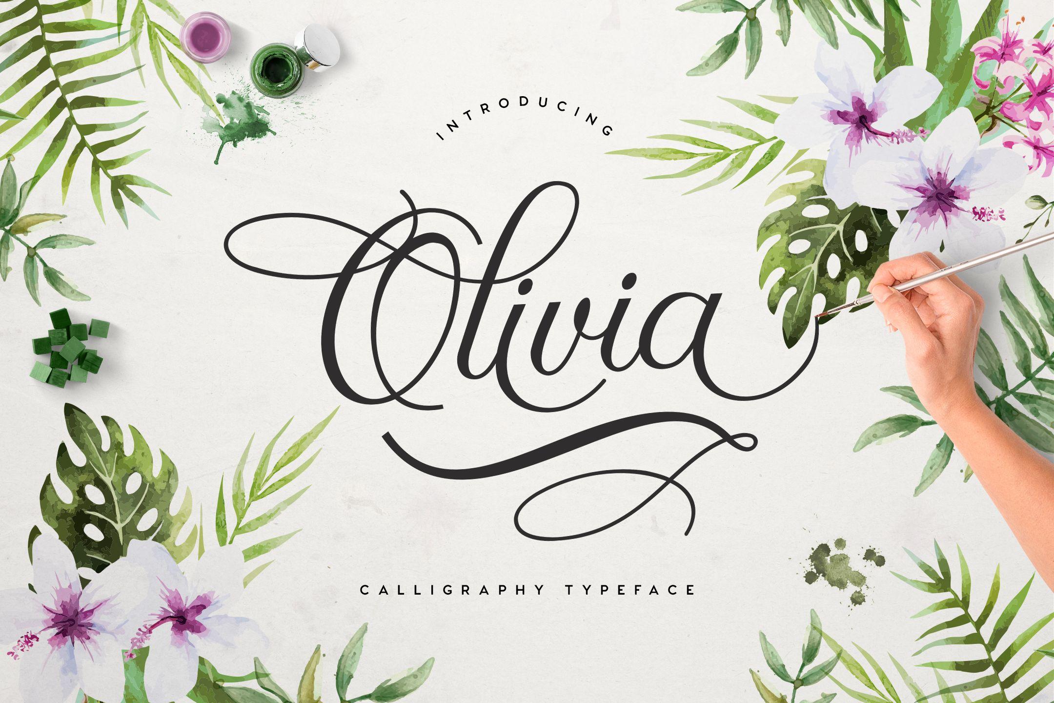 Download Olivia Script For Free Font Bundles Free Fonts Handwriting Free Calligraphy Fonts Romantic Fonts