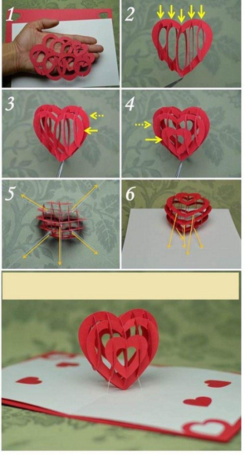 Pop Up Heart Heart Pop Up Card Pop Up Card Templates Pop Up Cards