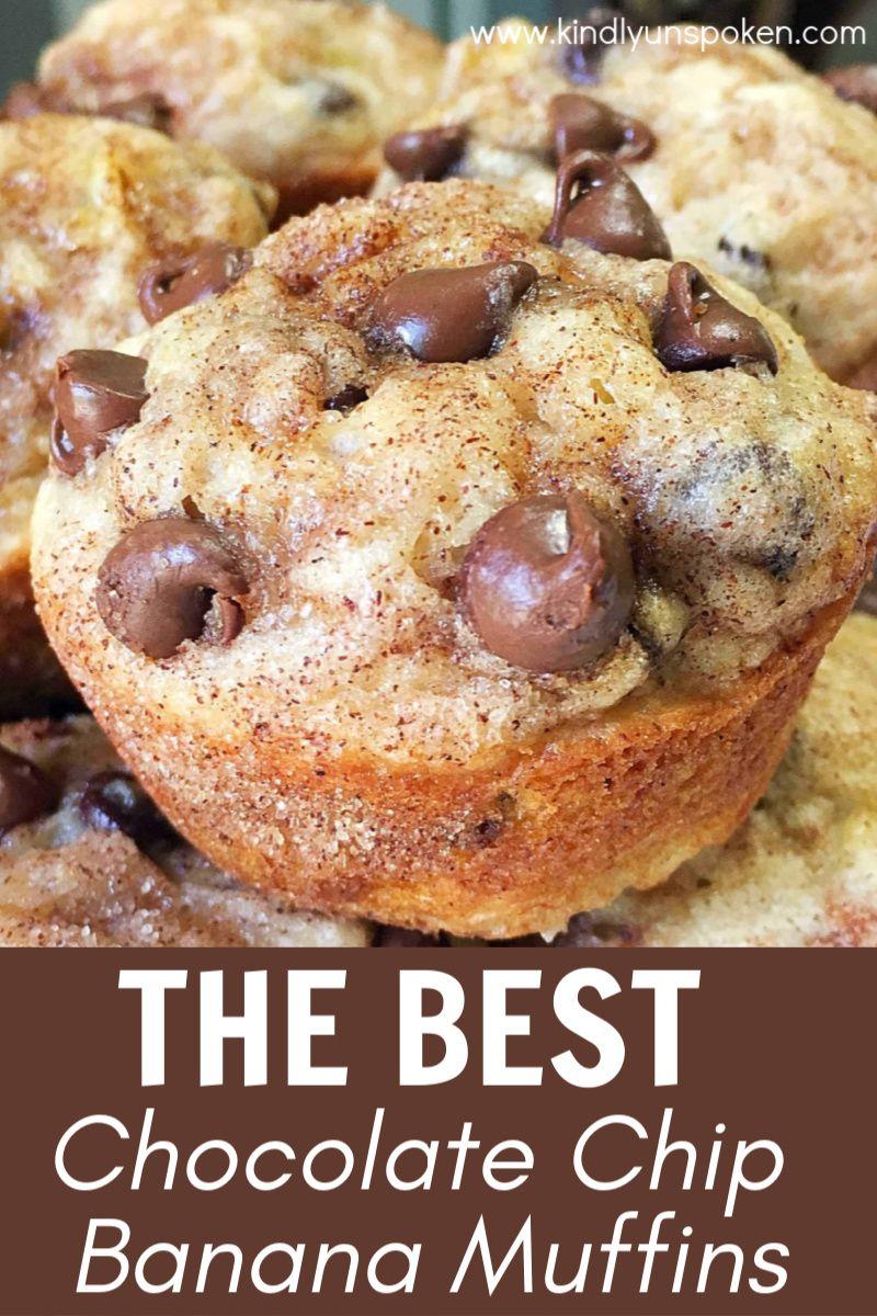 Easy Chocolate Chip Banana Muffins Recipe Banana Chocolate Chip Muffins Chocolate Chip Banana Bread Muffins Banana Chocolate Chip